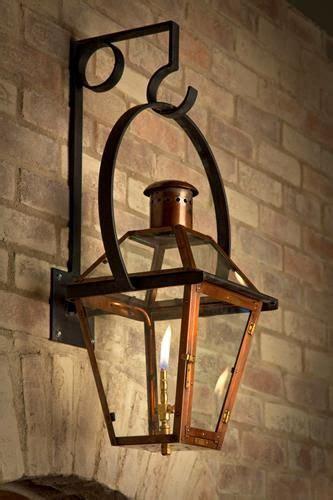 french quarter copper light fixture  yoke hanger bracket
