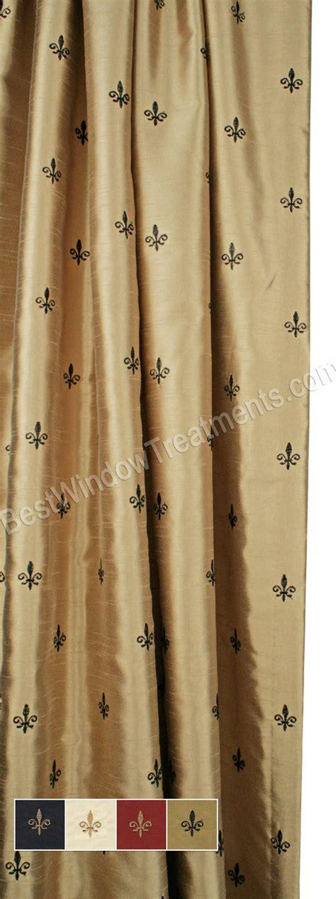 Fleur De Lis Curtains Custom Fleur De Lis Curtain Panel Lined
