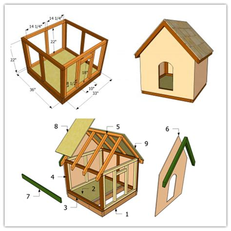 how to build a basic dog house how to make a simple doghouse step by step diy tutorial instructions projects