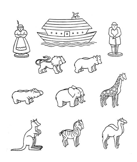 ark template free coloring pages of animals of noah