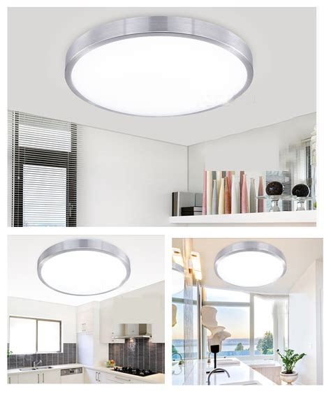 Contemporary Bathroom Downlight Modern 8w Led Flush Mounted Surface Ceiling Panel Light