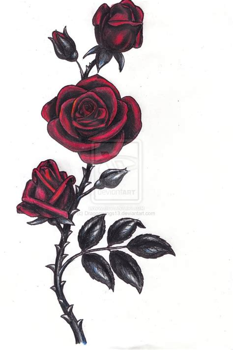 gothic black rose tattoo designs 24 tattoos and design ideas