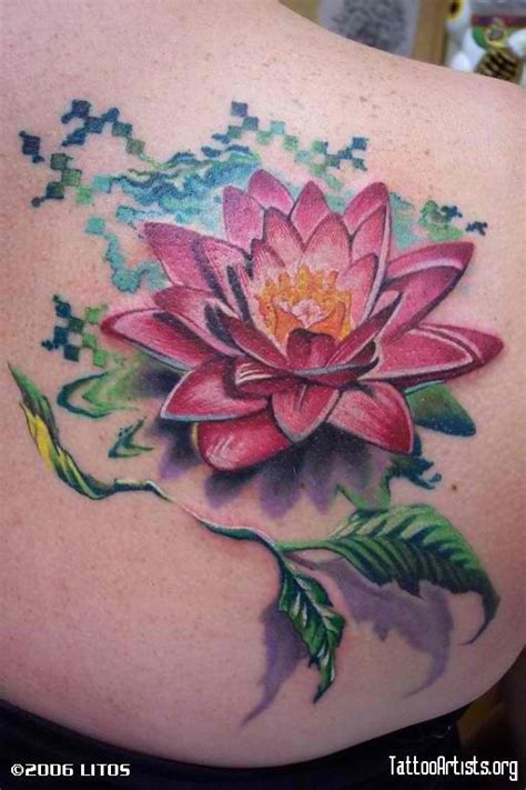 lily pad tattoo water flowers tattoos www imgkid the image