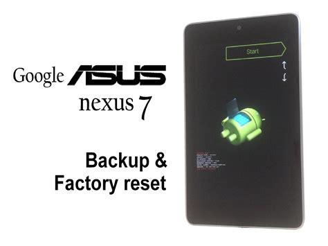 asus nexus 7 2012 factory reset ifixit repair guide