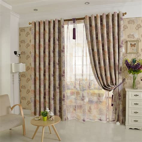 tree print curtains orange tree print jacquard polyester insulated country