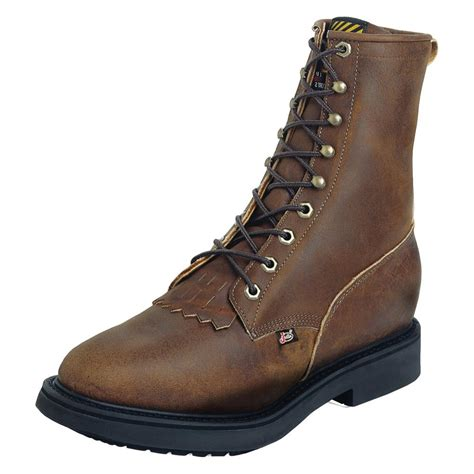 justin double comfort boots men s justin original work boots 8 quot double comfort medium