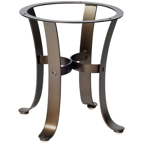 Patio Table Base Pictured Here Is The Cascade Outdoor End Table Base With Finish And Table Top Options From Woodard
