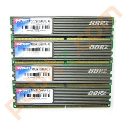 patriot 4gb 4 x 1gb pdc22g6400llk pc2 6400 800mhz memory