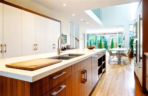 houzz modern kitchens see how wood warms modern white kitchens