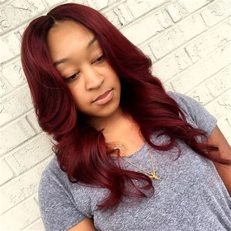 do any playboy models have burgundy hair sew in hairstyles for black woman black girl sew ins