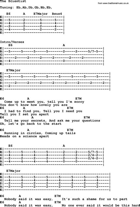 guitar tutorial the scientist willie nelson song the scientist lyrics and chords