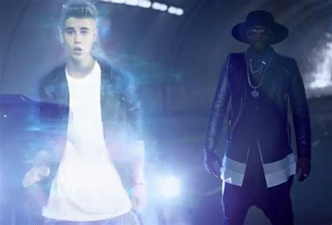 Bieber Hologram will i am f justin bieber thatpower rap up