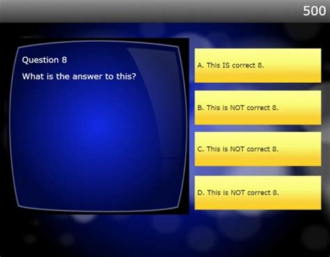 Game Show Ppt Template Powerpoint Template Quiz Game Quiz Powerpoint Template Free