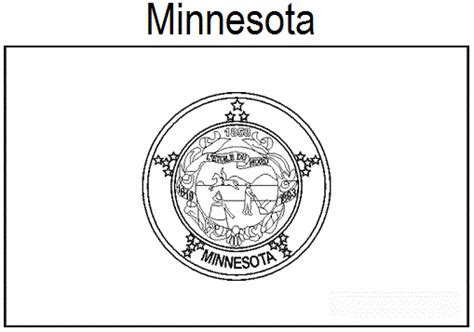 geography blog minnesota state flag coloring page