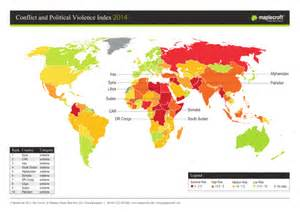 World Conflict Map by Conflict And Political Violence Index 2014 World Reliefweb