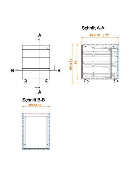 schublade schnitt rollcontainer mit 4 schubladen meine m 246 belmanufaktur