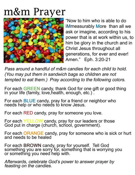 Or Youth Lesson M M Prayer Activity Just Stuff