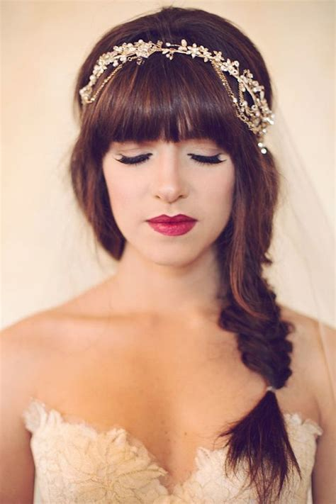 bridal hairstyles bangs brides with bangs wedding hair inspiration bridal musings