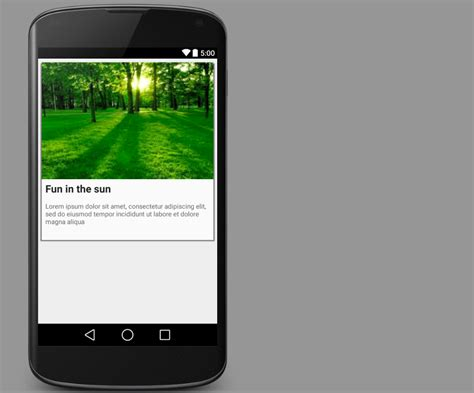 android cardview layout design android cardview exle stacktips
