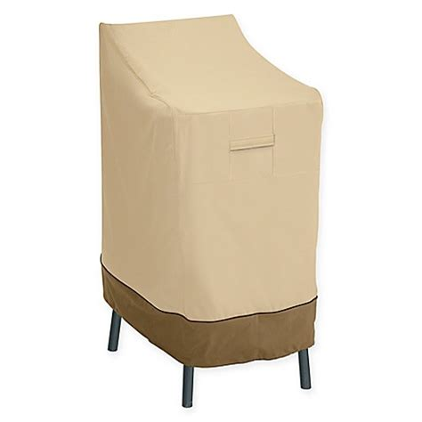 bar stool covers bed bath beyond classic accessories 174 veranda bar chair and stool cover