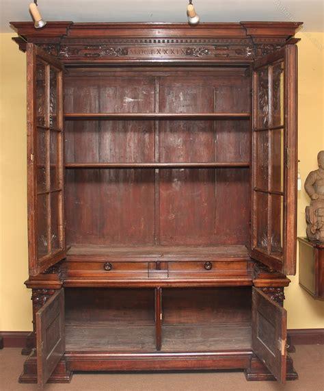 19th century walnut bookcase cabinet antiques atlas