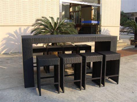 راتينج خارجي Wicker قضيب مجموعة Used Restaurant Outdoor Furniture