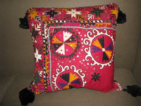 Handmade Pillows For Sale - sold embroidered kazakh wedding scarf 24in 150 00