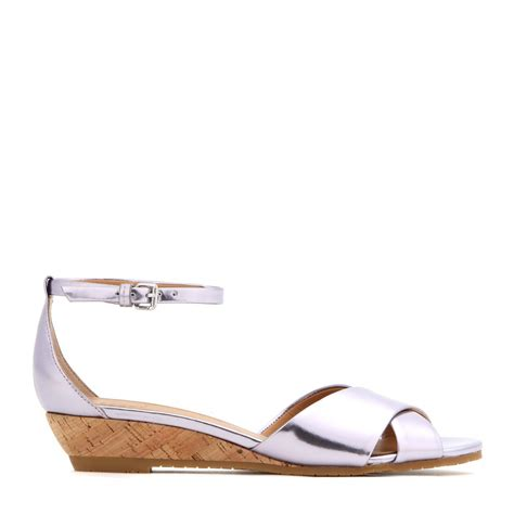 Marc Jabobs Sandals by Marc By Marc Seditionary Wedge Metallic Leather