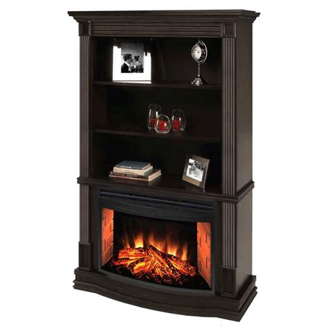 Object Moved Electric Fireplace With Bookshelves