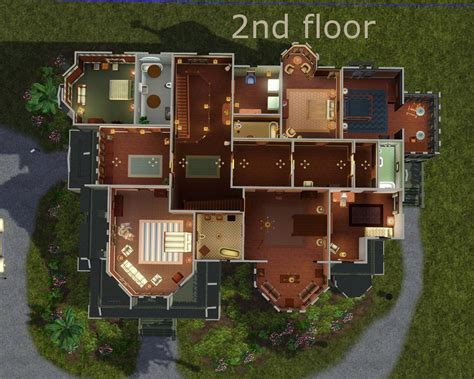 Rooftop Deck House Plans mod the sims carson mansion
