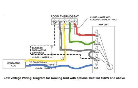 4 wire thermostat wiring heater diagram portal new