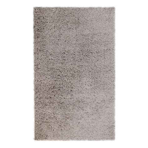 Microfiber Area Rug Chesapeake Merchandising Microfiber Shag Silver 5 Ft X 7 Ft Area Rug 79200 The Home Depot