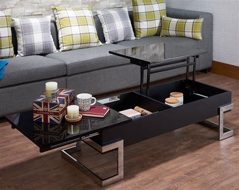 modern black coffee table with storage modern lift top coffee table with storage black chrome