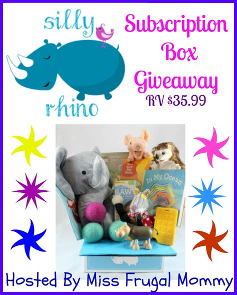 Subscription Box Giveaway - silly rhino subscription box giveaway the stuff of success