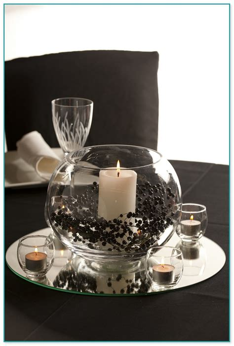 glass table decoration ideas glass bowl table decorations 2