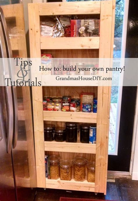 How To Build Kitchen Pantry by How To Build Your Own Rolling Pantry Hometalk