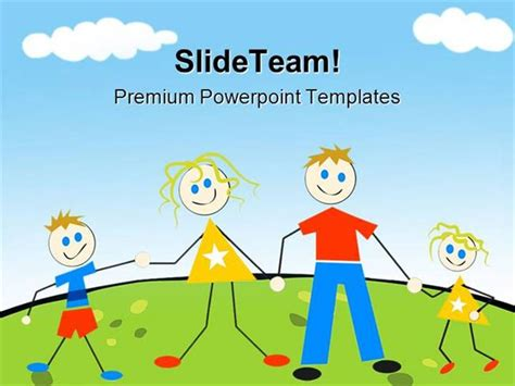happy family abstract powerpoint templates and powerpoint