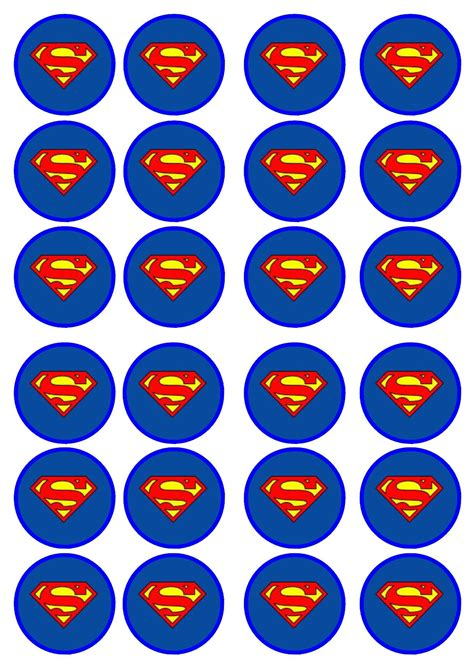 Cupcake Topper Superman 5 superman 2 edible premium wafer paper cupcake toppers