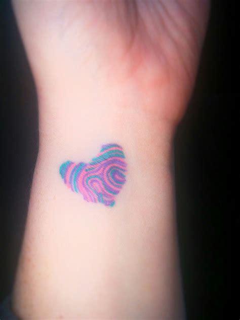 tattoo on my wrist fingerprint on my wrist left side is my and