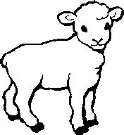 Lamb And Cross Clip Art | Clipart Panda - Free Clipart Images Lamb Black And White Clipart