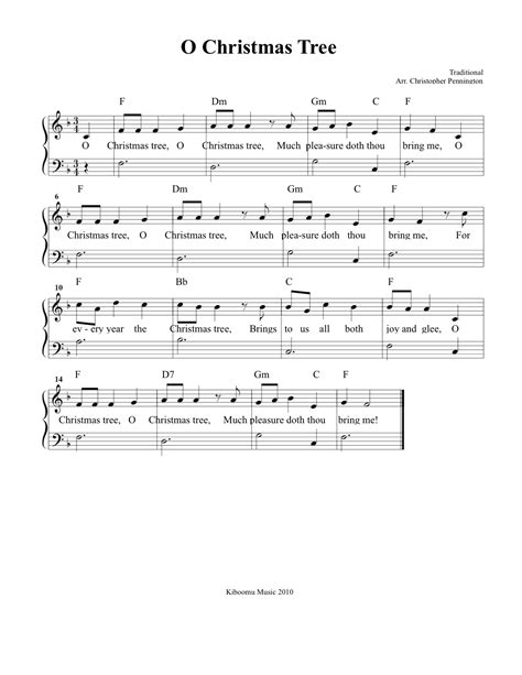 christmas sheet music o christmas tree sheet music and