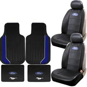 Seat Covers Made In Usa 6pc Ford Mustang Rubber Floor Mats And Low Back Seat