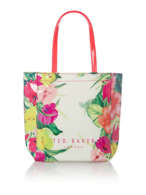 ted baker floral small tote bag in floral multi coloured