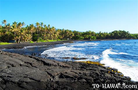 picture photo black sand beach at punaluu big island punaluu black sand beach big island