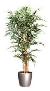 plante artificielle d int 201 rieur bambou pot rond gris