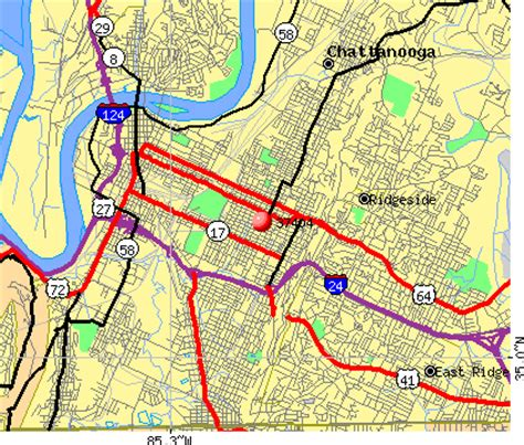 zip code map chattanooga tn 37404 zip code chattanooga tennessee profile homes