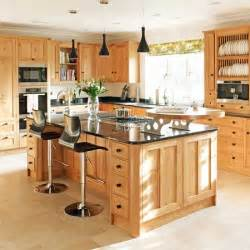 wood kitchen ideas sleek black and wood kitchen traditional kitchens housetohome co uk