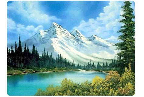 bob ross painting mountain ridge 밥로스의작품세계