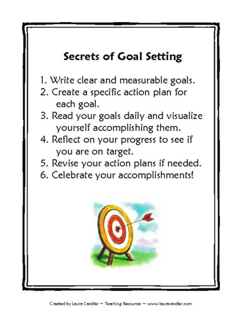goal setting template for high school students 17 best