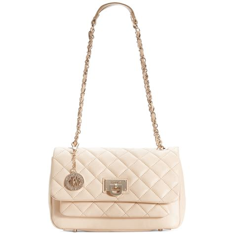 Dkny Quilted by Dkny Gansevoort Quilted Flap Pocket Shoulder Bag In Pink